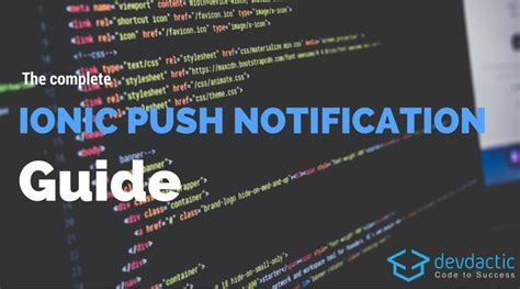 ionic push tutorial the complete ionic push notifications guide