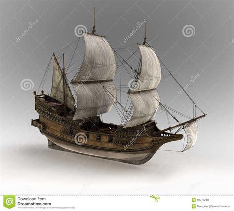 medieval sail ship royalty  stock  image