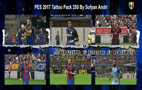 tattoo pack pes 2017 pes 2017 tattoo pack 250 by sofyan andri pes patch