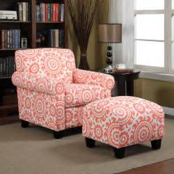 coral accent chair portfolio mira orange coral medallion arm chair and