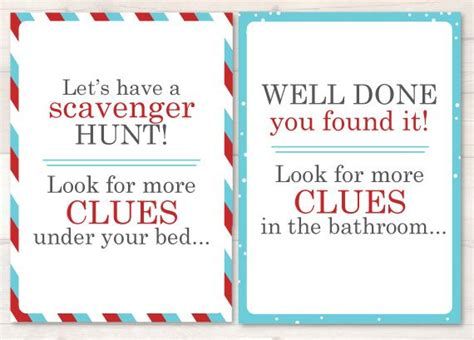 printable elf on the shelf scavenger hunt elf scavenger hunt cards 10 large brightly coloured