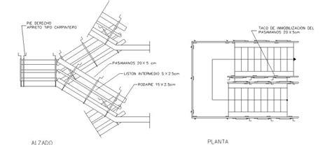 una barandilla debe situarse a bloques autocad gratis de planta y alzado de barandilla de