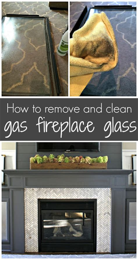Cleaning The Glass On A Gas Fireplace by Cleaning Gas Fireplace Glass From Thrifty Decor
