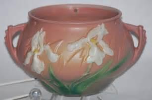 roseville pottery iris pink hanging basket for sale