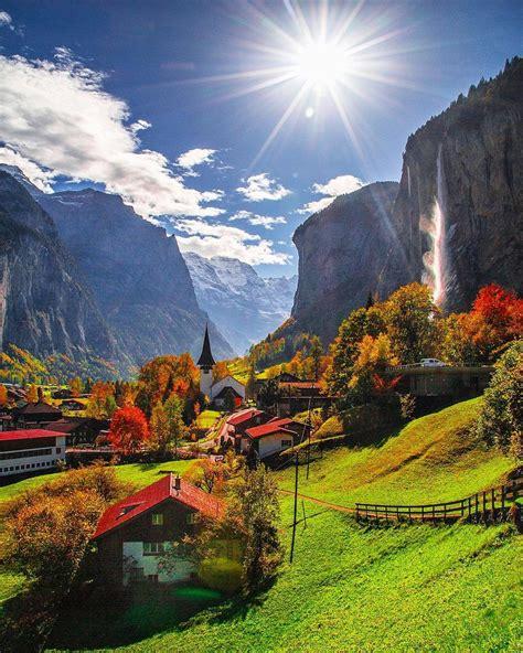 village  lauterbrunnen  switzerland beautiful places