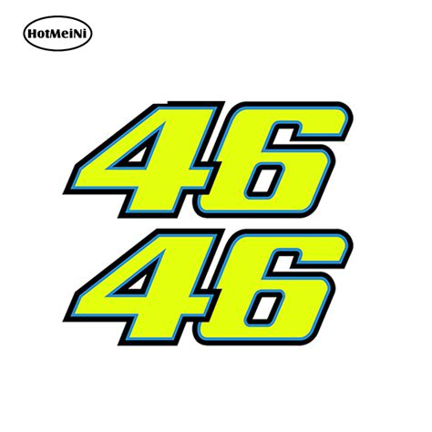 Sticker Vr46 07 aliexpress buy 3d number 46 valentino moto the