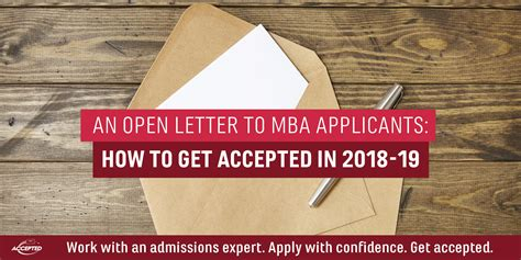 How To Get Your Mba For Free by Mba Applicants How To Get Accepted In 2018 19 Accepted