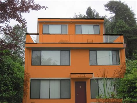 orange exterior house colors orange exterior paint home design