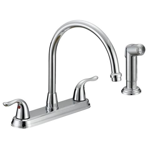 ez flo impression collection 2 handle standard kitchen faucet with side sprayer in chrome 10201