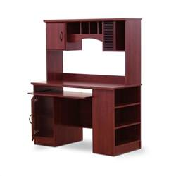Wood Computer Desks With Hutch South Shore Park Wood W Hutch Cherry Computer Desk Ebay
