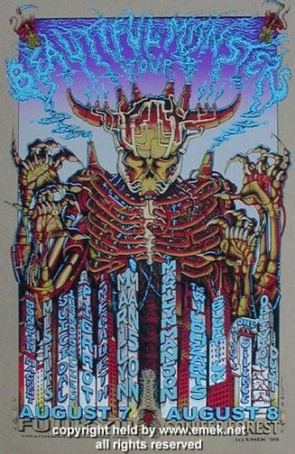 Beautiful Monsters 1999 marilyn megadeth board variant poster by