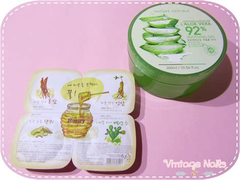 Original Trusted Nature Republic Aloe Vera 92 Shooting Gel Korea haul cosmetic enero 2014 vintage nails