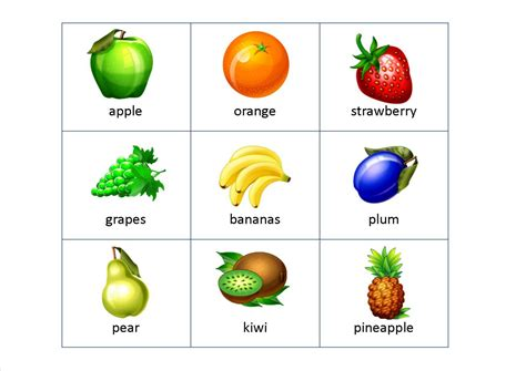 fruit 3 letter words printable flashcards for toddlers special education
