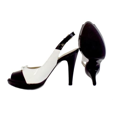 kaiser palmona black and white slingback