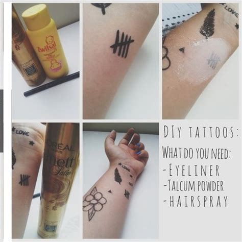 how to make homemade temporary tattoos diy