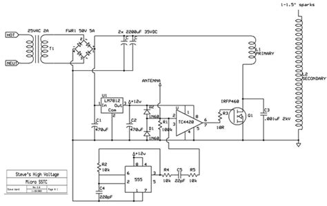 Musical Tesla Coil Schematic Pin Mini Sstc On