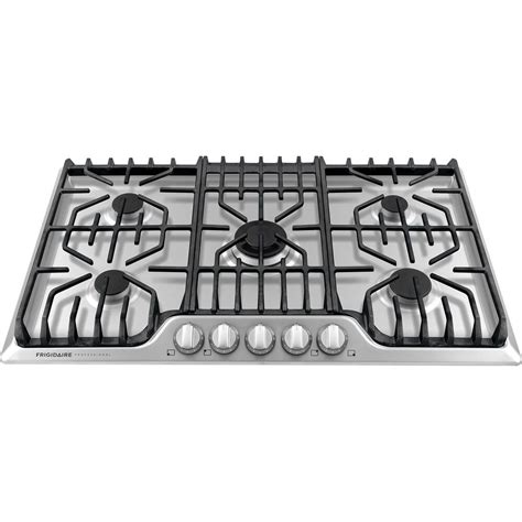 frigidaire 5 burner gas cooktop frigidaire pro 5 burner stainless steel 36 quot gas cooktop