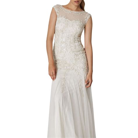 phase eight bridal sabina embellished wedding dress pearl