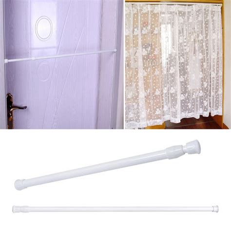 one piece shower curtain rod 1pc adjustable spring loaded bathroom shower curtain rod