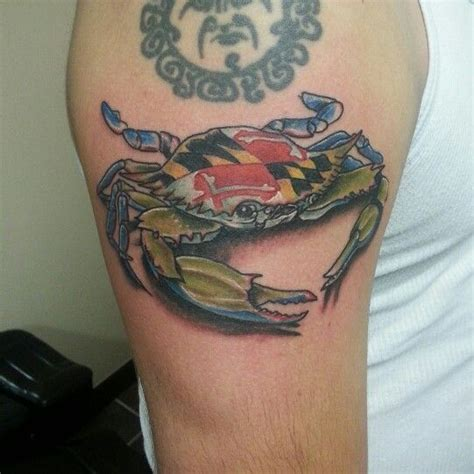 maryland crab tattoo maryland blue crab i did thanks for looking