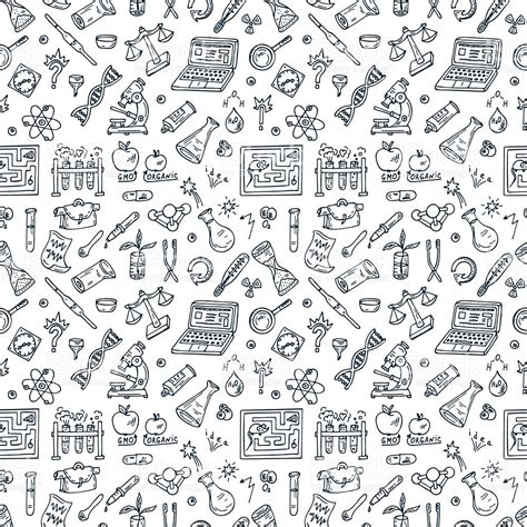 doodle science doodle science seamless background stock vector more