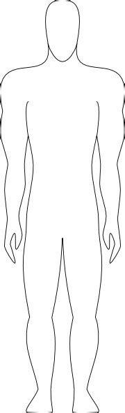 blank human body outline new calendar template site