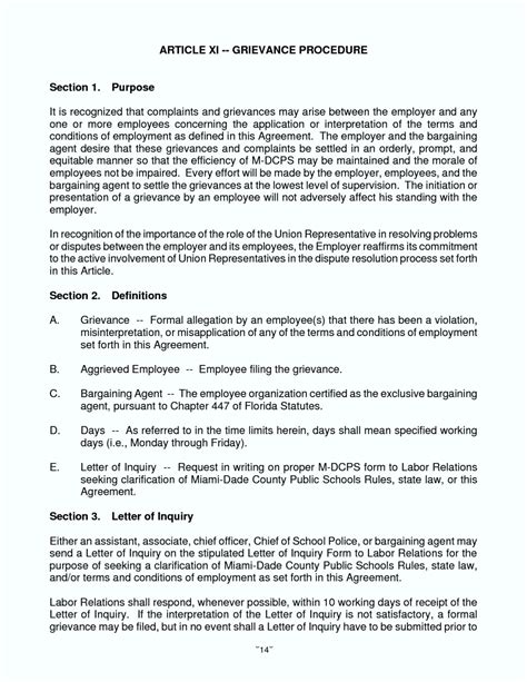 Sle Dispute Letter To Employer Grievance Letter Template To Employer 28 Images Grievance Letter 11 Documents In Pdf Word