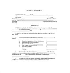Letter Of Agreement Template Free by 9 Payment Agreement Templates Free Sle Exle