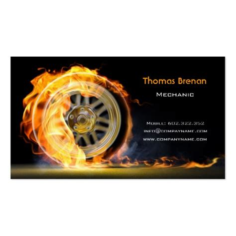 card template mechanic mechanic automotive wheel business card template zazzle