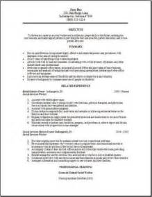 Human Services Resume Templates by Social Services Resume Occupational Exles Sles Free