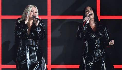 demi lovato album 2019 christina aguilera demi lovato perform fall in line at