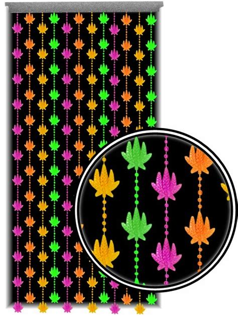 blacklight beaded curtains beaded curtains black light reactive neon pot leaf door