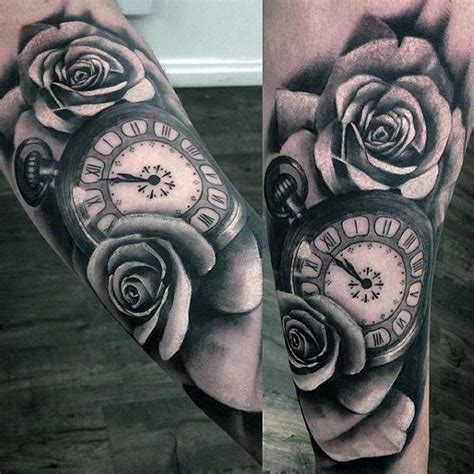 clock with roses tattoo meaning 100 pocket designs for cool timepieces