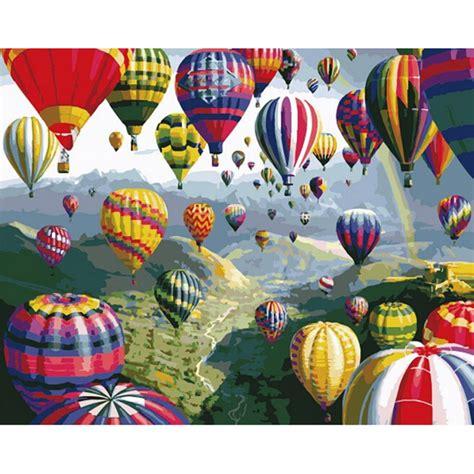 Air Balloon Home Decor by Home Decor Air Balloon Frameless Picture On Wall
