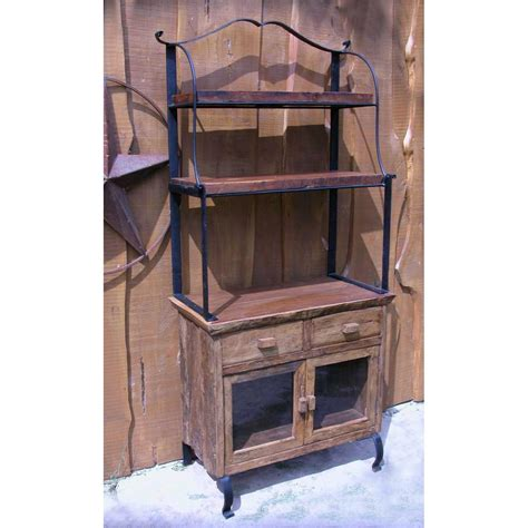 groovystuff teak wood bakers rack cabinet tf 334