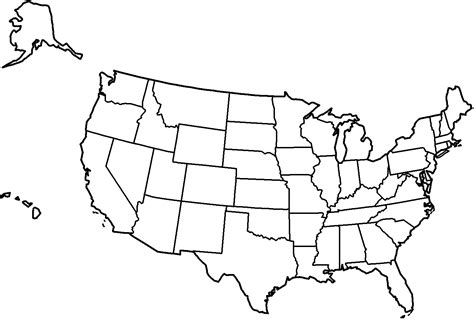 black and white map of the united states 4 best images of united states map printable black and