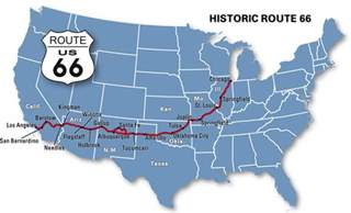 map us route 66 soundtrack4life the b sides route 66 charity ride go