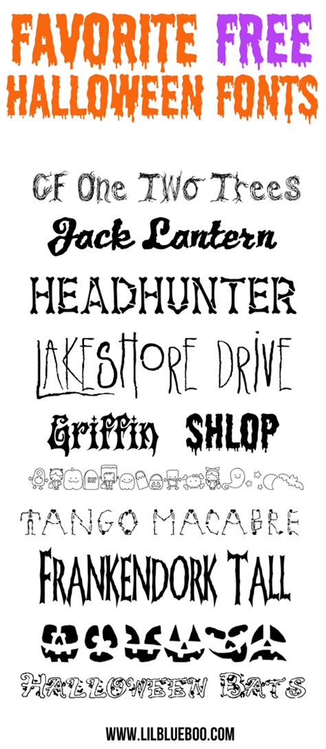 printable scary fonts free downloadable halloween fonts images