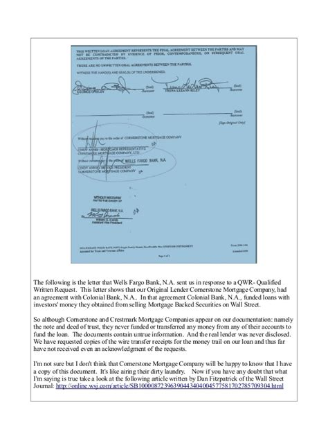 Qwr Response Letter how to stop foreclosure