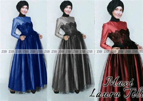 Longdress Veronika Busana Muslim baju dress muslim maxi tile model terbaru