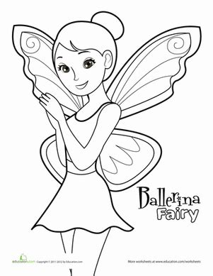 fairy ballerina coloring pages fairy ballerina worksheet education com