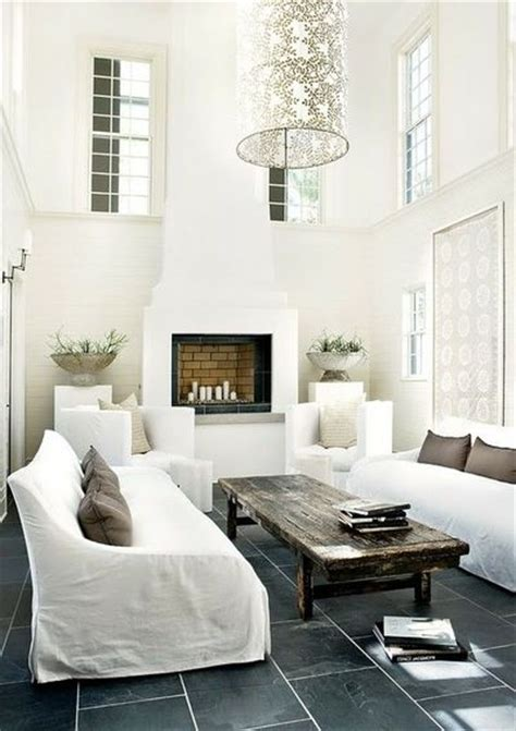 grey slate tile floors white living room for the home