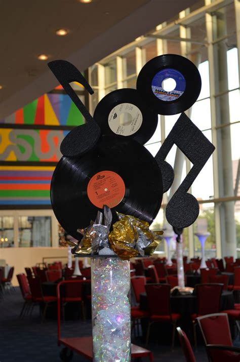 music rock roll centerpiece by ideal party decorators
