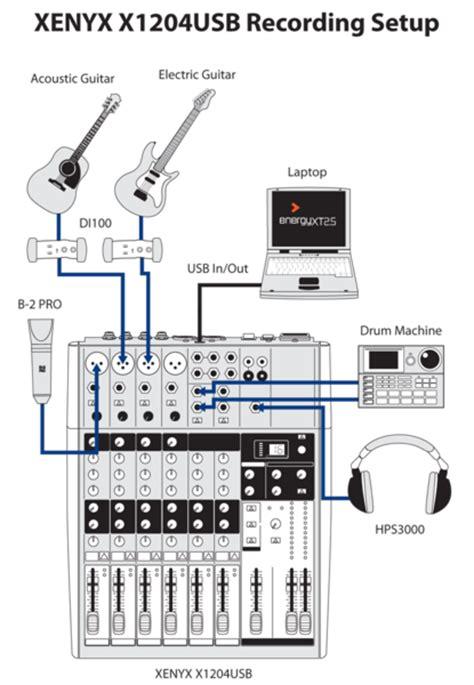 Mixer Behringer Xenyx X1204 Usb behringer xenyx x1204 usb sound 7