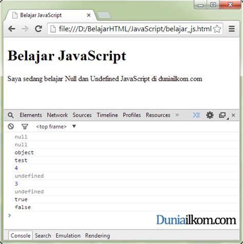 Javascript Null Pattern   pengertian nilai null dan undefined di dalam javascript