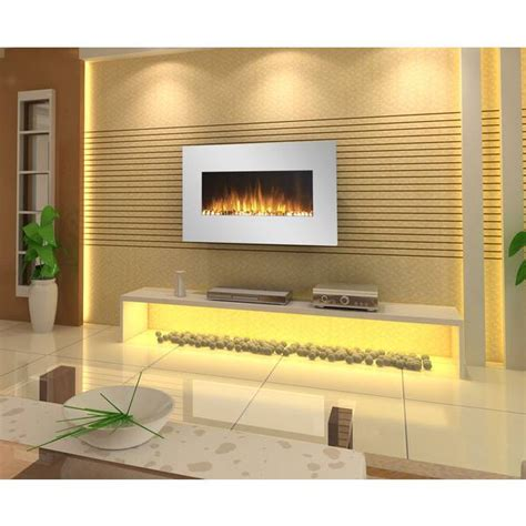 White Wall Fireplace by 35 Inch White Wall Mounted Electric Fireplace 1500w Buy