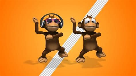 monkey cartoon  character gangnam style dance  pack  sed