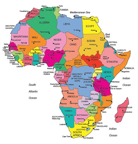 political map of africa free world maps usa county world globe editable powerpoint maps for