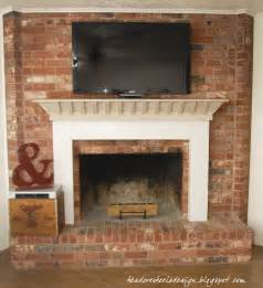 what can i put brick fireplace brown hairs