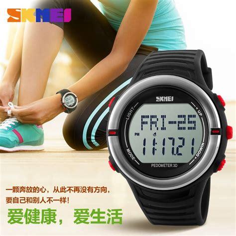 Jam Tangan Digital Skmei Dg1122s Pedometer Sport Water Resistant skmei jam tangan digital pria dg1111hr army green jakartanotebook